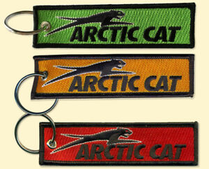 Arctic Cat Key Chain, for Snowmobiles, ATVs, outdoors,  red, orange, green