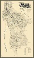 San Mateo California Landowner - Bromfield 1894 - 23 x 38.69