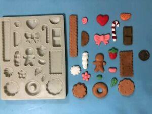 embellishment silicone mould (1)-food / sweets - craft, fimo, sugarcraft Xmas