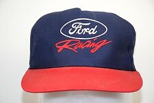 Ford Motorsport Racing Official Blue Snapback Embroidered Script Trucker Hat