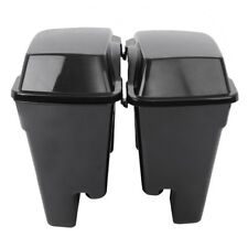 "Hard Saddlebags Saddle bags4"" Stretched Unpainted Lids for Harley Davidson 93-13"