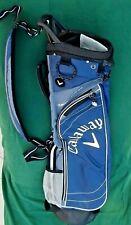 New listing NEW CALLAWAY SUNDAY--Golf Bag--2.5--Hyper Lite-4 way--2 pockets-blue/white