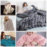 Chunky Wool Yarn Super Soft Bulky Arm Knitting Blanket Sweater Roving Crocheting