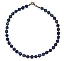 Lapis Lazuli Necklet With Sterling Silver Clasp & Beads - Was £195