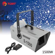 TCMT 1500W Snow Maker Snowflake Machine Stage DJ Flake Effect Two Speed Maker