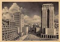 Cartolina Genova Illustrata Grattacieli