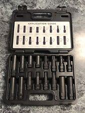 Security Locking Key Lug Nut Master Socket Set 16 Piece Tool Kit Wheel Removal