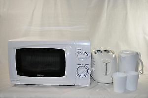 Low Power Microwave, Kettle and Toaster set [KIT01]