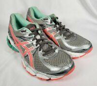 Asics Gel Flux 2 Women's Running Shoe Gray Mint Orange Athletic  Size 8-T568N