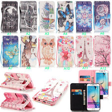 Flip Leather Wallet Cards Holder Stand Case Phone Cover For Samsung Galaxy & LG