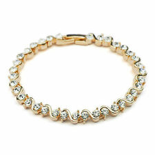 Cubic Zirconia Rose Gold Plated Tennis Fashion Bracelets