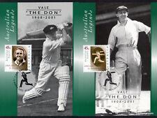 2001 Legends Donald Bradman Maxi Cards Prepaid Postcard Maxicards Australia