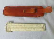 "6"" Pickett & Eckel Synchro Scale N600-T Speed Slide Rule - Original Leather Case"