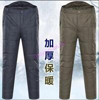 Men Unisex Outdoor Winter warm Ultralight Duck Down Trousers Pants Light Hot Sz