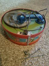 Vintage J Chein Circus Record Player Lithograph Tin Rare Find