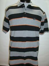 DRUNKN MUNKY Mens Large L Streetwear Striped Polo shirt Combine ship Discount