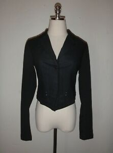Deca Paris women's 1 black button front super soft suit jacket