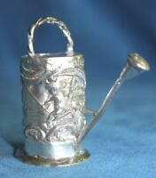 Antique Marked Lot13 1888 Germany .812 Silver Miniature Watering Toy Can Novelty