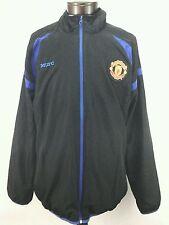 EUC $90 MANCHESTER UNITED MUFC Official Mens Black/Blue Windbreaker Jacket XL