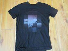 RVCA Men's Serpent Type Crewneck Logo Graphic Tee T-Shirt - Black