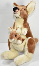 Russ YOMIKO CLASSICS MOMMY & BABY KANGAROO Stuffed Animal PLUSH SOFT TOY Cute