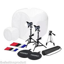 45W Estudio Fotografía Soporte Set Kit Trípode Telón Fondo Luz Continua Softbox