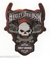 "GENUINE HARLEY DAVIDSON SKULL SNAKES AND BLADES 3-5/8"" INDOOR STICKER DECAL!"