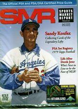 New listing APRIL 2015 SANDY KOUFAX COVER SMR PSA SPORTS MARKET REPORT PRICE GUIDE  MINT