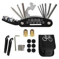 Bike Repair Tool Kit, 16 in 1 Multi-Function Bicycle Mechanic Fix Tools Set T3Y7