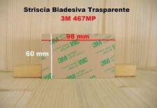 2X 3M Biadesivo 467 MP 200 MP Foglio Trasparente Transfer 98 X 60 mm 2 Pezzi