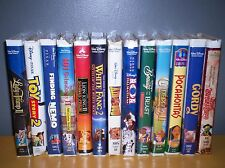 LOT OF 13 WALT DISNEY CLAM SHELL VHS  GOOD TO VERY GOOD ALL FAMILY MOVIES