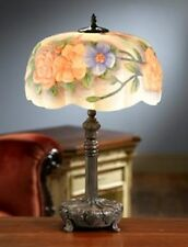 NEW BEAUTIFUL FLORAL REVERSE PAINTED PAIRPOINT SYTLE PUFFY LAMP