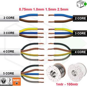 ELECTRICAL FLEX ROUND CABLE WIRE 3182Y 3183 3184Y 3185Y BLACK WHITE 2 3 4 5 CORE