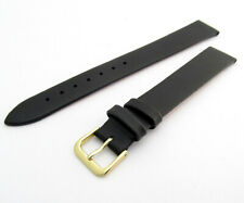 CONDOR Extra Long Smooth Grain Calf Leather Watch Strap 081L 16mm Black g