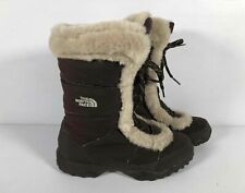 The North Face Brown Nylon Women's Goose Down Lined Short Winter Boots Sz 8