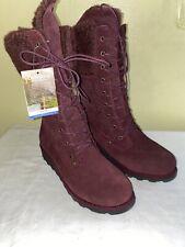 Bearpaw Lace Up Boots Kylie Size 9 Purple/Wine