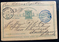 1898 Lorenzo Marques Portuguese Mozambique Stationery Postcard Cover To Holland