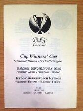 Scotland European Cup Football Programmes