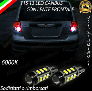 LAMPADE RETROMARCIA 13 LED T15 W16W CANBUS HYUNDAI GETZ NO ERROR
