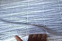 2.5 Yard Fabric Hand Block Print Floral Dressmaking 100% Cotton Indian Craft