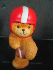 Enesco Vintage 1980 Lucy & Me Bear Football Player Red White