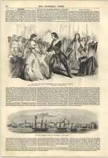 1847 City Of Belem Amazon Estuary Bride Of Lammermoor Drury Lane Engraving