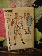 60s Simplicity Men's Pajama Pattern 5039 M 38-40 chest