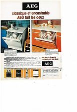 PUBLICITE ADVERTISING  054  1977  AEG  lave vaisselle  encastrable & classique