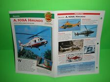 AGUSTA A.109A HIRUNDO FACTS CARD AIRPLANE BOOK 84