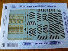 "Microscale Decal HO  #87-855 Lehigh Valley Locos, (1970-76)-""Diesel - GP38, U23B"