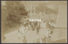 More details for sherborne, dorset. laying foundation stone digby memorial church hall 1909 rppc