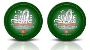 2 x 150ml L'Oreal Elvive Phytoclear Intensive Exfoliating Pre Shampoo Scrub NEW