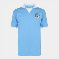 Score Draw Mens Manchester City 1976 Retro Football Jersey Shirt