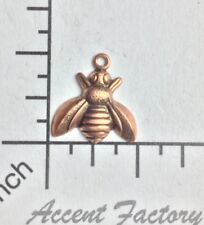 34283 Honey Bee Jewelry Finding Stamping Brass Oxidized